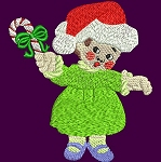 Link to the Christmas Kids embroidery design collection