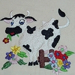 Link to the Country Cows embroidery desig collection