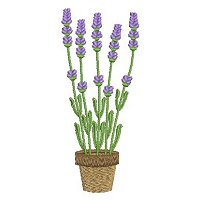 Free embroidery design of Lavender flowers in a pot.jpg