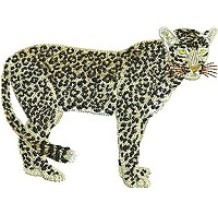Embroidery design of a leopard
