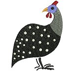 Link to the Guinea Fowl embroidery design collection