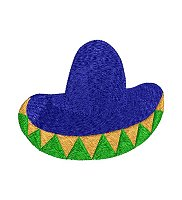 Embroidery design of a sombrero.