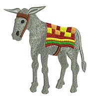 Donkey embroidery design.