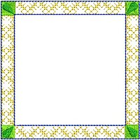 Embroidery design of a frame.