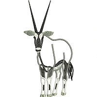 Gemsbok or Orix antelope embroidery design