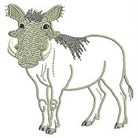 Warthog embroidey design