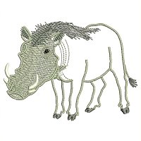 Warthog embroidery design