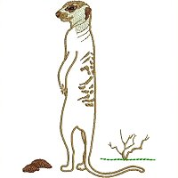Meerkat embroidery design