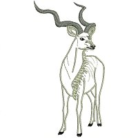 Kudu embroidery design