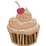 Cupcakes machine embroidery designs