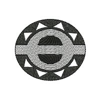 Circular ethnic pattern embroidery design.