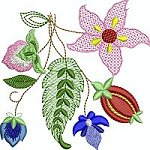 Link to the Fantasy Flowers embroidery design collection