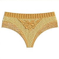 Brown panty embroidery design.