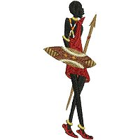 Embroidery design of a Maasai man carrying his spear and shield..jpg
