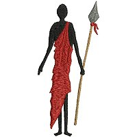 Embroidery design of a Maasai man with his spear.jpg