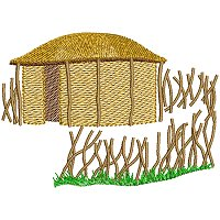 Embroidery design of a Maasai village dwelling.jpg