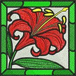 Link to the Stained glass embroidery design collection