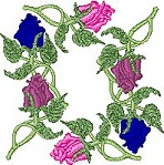 Link to the Rose Borders embroidery design collection
