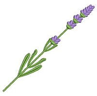 Lavender flowers embroidery design collection for machine